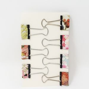 Spring Inspired Binder Clips, Desk Accessories